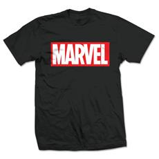 Marvel Comics - Marvel Box Logo Nero (T-Shirt Unisex Tg. 2XL)