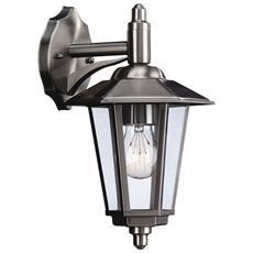 Lanterna Da Parete Galveston In Acciaio Inox 1 X 60 W 230 V