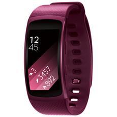 "Gear Fit2 Impermeabile Misura L Display 1.5"" Memoria 4GB Wi-Fi Bluetooth funzione Personal Trainer GPS + Lettore Musicale per Android - Rosa"