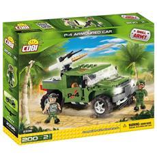 P-4 Armoured Car Jeep Lanciamissili Gioco Di Costruzioni Small Army 02550