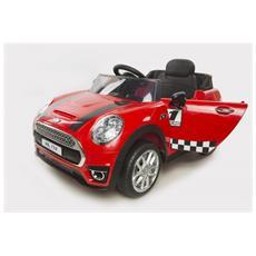 Auto Elettrica Mini Coupé Cabrio Rossa Con Luci, Suoni E Telecomando 12 Volt 198 / r