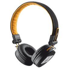 Cuffie con Microfono Cablato Fyber Colore Nero / Arancione