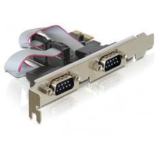 PCI Express > 2 x Serial, RS-232, PCI Express, Windows 2000 / XP / Server-2003 / Server-2003-64 / Vista / Vista-64