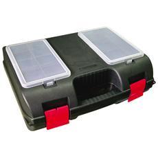 Cassetta portautensili in plastica 12 scomparti cm 37,5x28,5xH 13