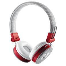 Cuffie con Microfono Cablato Fyber Colore Grigio / Rosso