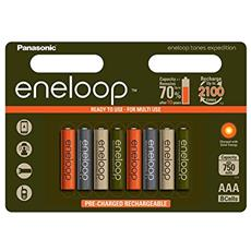 1x8 Panasonic Eneloop Micro AAA 750 mAh Limited Tones Expedition