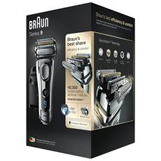 Series 9 9296cc Men's Electric Foil Shaver, Wet And Dry With Clean And Renew Charge Station, Pop Up Trimmer, Rechargeable And Cordless Razor And Travel Case Chrome
