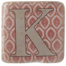 Sottobicchieri Con Lettere (9 X 9 X 0.8cm) (k)