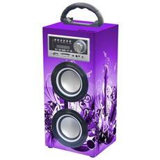 2x 3W, 150-20000Hz, 70dB, Bluetooth 2.1, USB, SD / MMC, AUX, FM, 1200mAh, 1.2kg