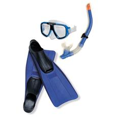 Pinne + Maschera + Boccaglio Reef Colore Blu
