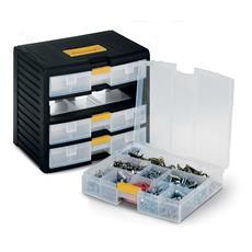 Cassettiera Bricolage Store-age 43002 nero / trasparente L39,1 x P29 x H33,4