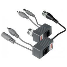 Videobalun 1ch Passivo+dc+audio 300 450m Cavo Utp