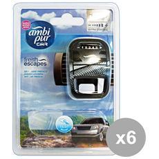 Set 6 Auto Base Sky Deodorante Accessori Auto E Moto