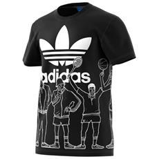 T-shirt Trefoil Graphic Nero Fantasia M