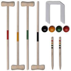 Set Gioco Croquet Di Legno Per 4 Giocatori