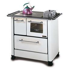 Cucina a Legna Romantica 4,5 SX Acciaio Porcellanato Potenza Termica Nominale 6 kW 172 m3 Riscaldabili Colore Bianco