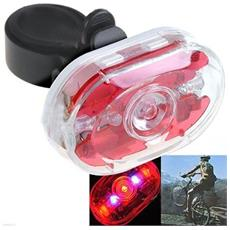 Fanale Posteriore Bici 5 Led Fisso - Intermittente Bicycles Led Light