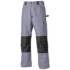 Pantaloni Multitasche Uomo (girovita 86cm - Lungo) (grigio / nero)