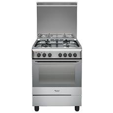 HOTPOINT - Cucina Elettrica H6TMH2AF X IT 4 Fuochi a Gas Forno Elettrico Ventilato Dimensione 60 x 60 cm Colore...