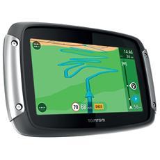 """Rider 400 Display 4.3"""" touchscreen Memoria 16GB +Slot MicroSD Mappe Europa 45 paesi + Traffic + Autovelox con aggiornamenti gratis a vita, Bluetooth"""