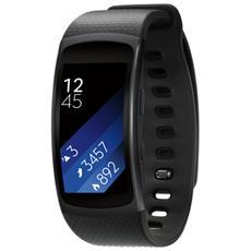 """Gear Fit2 Impermeabile Misura L Display 1.5"""" Memoria 4GB Wi-Fi Bluetooth funzione Personal Trainer GPS + Lettore Musicale per Android - Nero"""