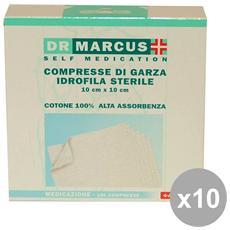 Set 10 Compresse Di Garza 10x10 Cm. Cerotti E Cura Del Corpo