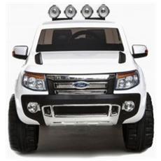 Auto Elettrica Ford Ranger Wildtrack Bianca Con Luci, Suoni E Telecomando 12 Volt 550 / wh