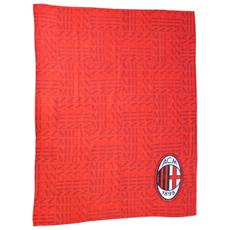Plaid Milan Unica Rosso Nero