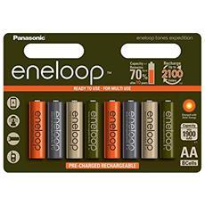 1x8 Panasonic Eneloop Mignon AA 1900mAh Limited Tones Expedition
