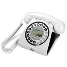 Hallo Telefono Vintage Dect Vivavoce - Bianco