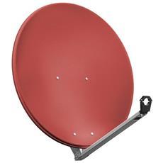 Wentronic SAT Spieg. 80er Alu, 10.7 - 12.75 GHz, 38,8 dBi, 80 cm, 3,8 kg, Rosso, Alluminio