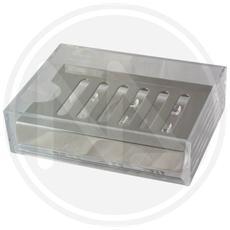 PORTASAPONE da BAGNO in PVC TRASPARENTE e supporto in metallo MAURER