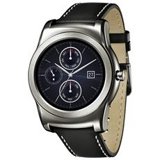 "W150 Watch Urbane Silver Display P-Oled 1.3"" Cassa in acciaio e cinturino in pelle, cardiofrequenzimetro - Android Wear"