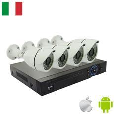 Kit Videosorveglianza 4 Telecamere Ip 1 Megapixel