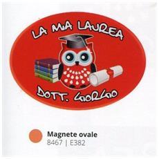 Bomboniere Laurea Personalizzata Pergamena Magnete Gufo Ovale In Pvc +confezione