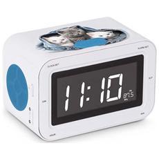 Interactive RR30 - Kitties 2, Orologio, LCD, Digitale, AM, FM, AC, Batteria, 87,5 - 108 MHz