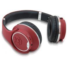 Cuffie con Microfono per PC Connessione Bluetooth Rossa 10 m