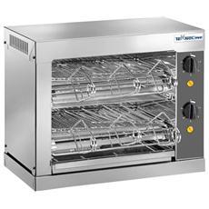 Tostiera Professionale Potenza 3000 Watt Acciaio Inox T06