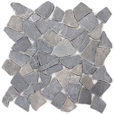Piastrelle Per Pavimento E Parete Vigo T687 Marmo Mosaico 30x30cm 11 Pezzi 1mq ~ Grigio
