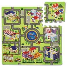 Tappetino Puzzle 9pz Tappetosi Allegra Citta' (96x96cm.) 11091170