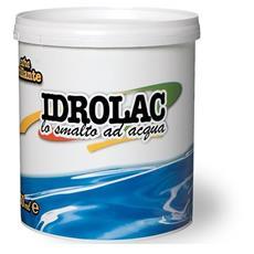 Smalto Acrilico ad Acqua Idrolac Laiv colore Bianco Satinato 2,5 Lt.