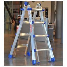 Scala equipe gradini 8+8 telescopica