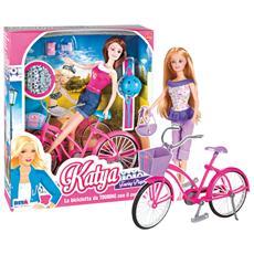 Katya Bambola Con La Bicicletta Per Bambine Di 3 Anni