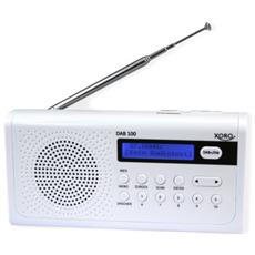DAB 100 Portatile Digitale Bianco radio