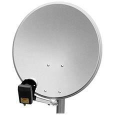 Wentronic SAT Spieg. 65er Alu, 10.7 - 12.75 GHz, 37 dBi, 65 cm, Grigio, Alluminio