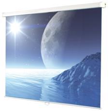 """Schermo di proiezione ITB ECOROLL - Manuale - 287,1 cm (113"""") - 1:1 - Montaggio a muro / soffitto - 203 cm (79,9"""") x 203 cm (79,9"""") - Matte Bianco"""