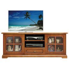 Mobile tv vetrinetta - legno massello - 153 cm