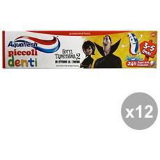 Set 12 Dentifricio Piccoli Denti 3-5 Anni 50 Ml. Prodotti Per Il Viso