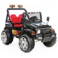 Auto Elettrica Jeep Safari Nera Con Luci, Suoni E Telecomando 12 Volt 618 / bk