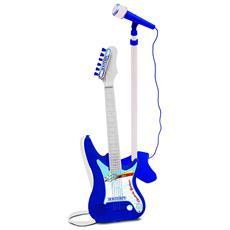 24 7640 - Chitarra Elettrica Con Amplificatore E Microfono